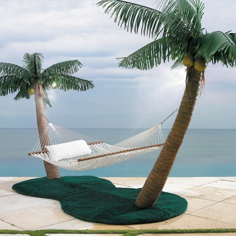 Tropical Island with Hammock